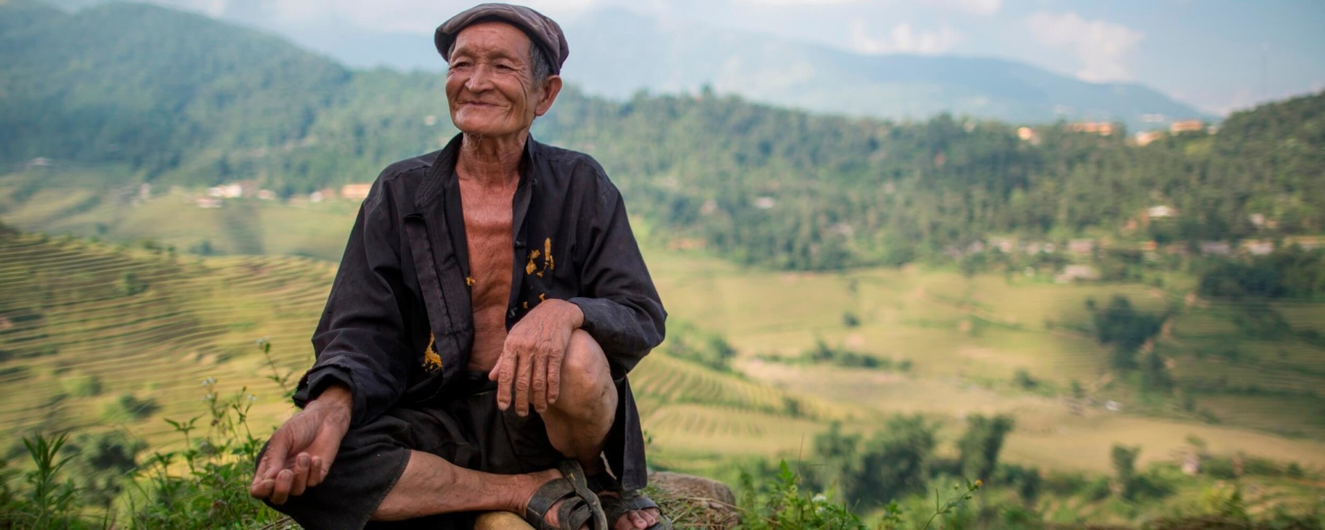 Black Hmong minority old man