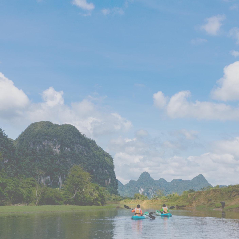 Kayaking in Phong Nha