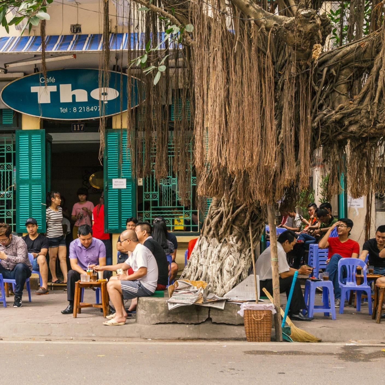 Vietnamese street cafe